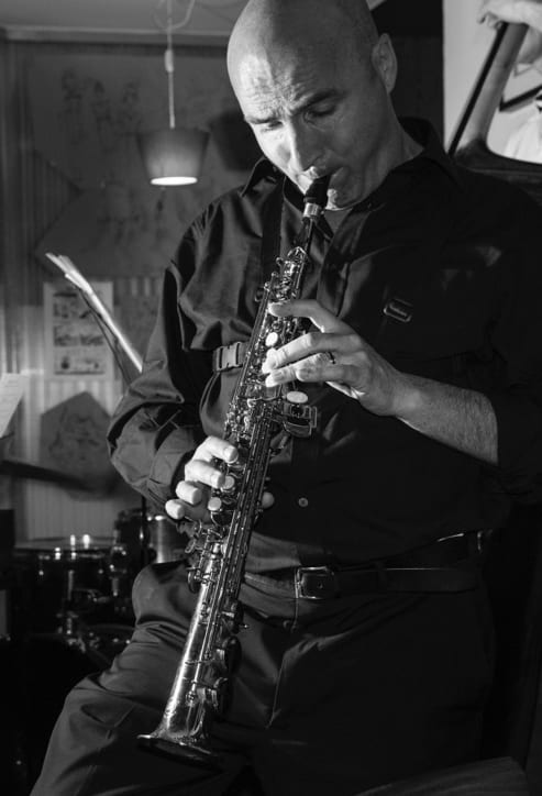 Mirko Fait sassofonista a Milano
