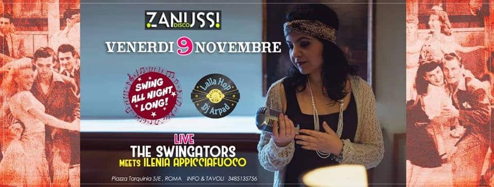 Swing All Night Long! Zanussi - Roma Venerdì 9 novembre 2018