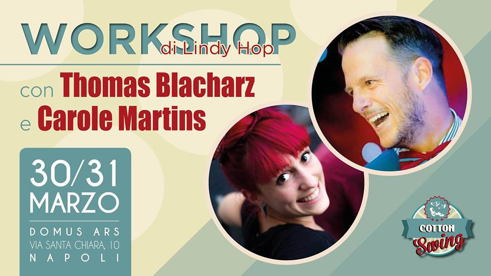 Swing Fever Media Partner di Lindy Hop Workshop with Thomas Blacharz & Carole Martins