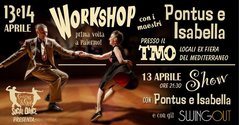 Swing Fever Media Partner di Pontus & Isabella Workshop Swing & Shot – Social Dance Party
