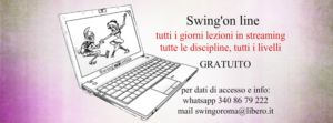 Swing'on line - lezioni gratuite - Swing'o'Roma in streaming @ Swing'o'Roma Dancing School | Rome | NY | United States