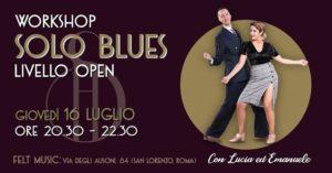 Solo Blues Mini Workshop@Felt (San Lorenzo) @ FELT MUSIC Club & School | Rome | Italy