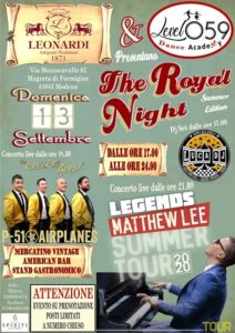 The ROYAL NIGHT Summer Edition - Matthew LEE live on stage @ Acetaia Leonardi   Formigine   Italy
