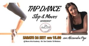 Tap Dance Step & Moves Workshop @ MUMO Arts Academy | Modena | Italy